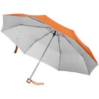 Зонт складной Silverlake, оранжевый с серебристым