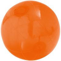 Надувной пляжный мяч Sun and Fun, полупрозрачный оранжевый