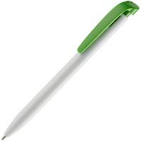 Ручка шариковая Favorite, белая с зеленым