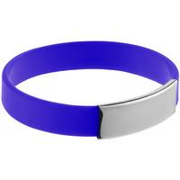 Силиконовый браслет Brisky с металлическим шильдом, синий