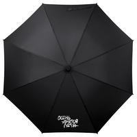 Зонт-трость «Осень хочется лета», черный