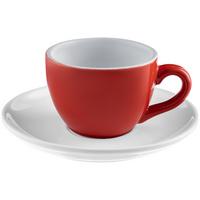 Чайная пара Cozy Morning, красная с белым
