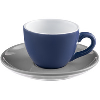 Чайная пара Cozy Morning, синяя с серым