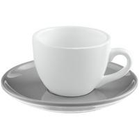 Чайная пара Cozy Morning, белая с серым
