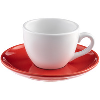 Чайная пара Cozy Morning, белая с красным