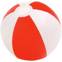 Надувной пляжный мяч Cruise, красный с белым