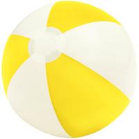 Надувной пляжный мяч Cruise, желтый с белым