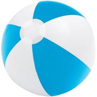 Надувной пляжный мяч Cruise, голубой с белым
