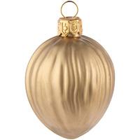 Елочная игрушка «Грецкий орех» в коробке, матовое золото