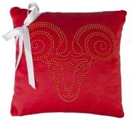 Подушка «Знак зодиака Овен», красная